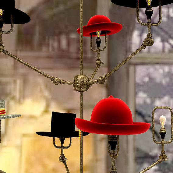 Steam Punk Hat Chandelier