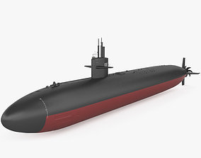 3D model Los Angeles-class submarine