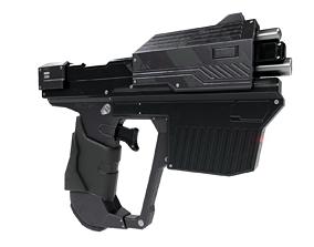 Sci-fi gun low-poly game-ready 3D asset