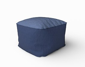 Fabric pouf 3D
