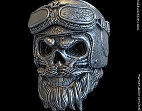 biker helmet skull vol2 ring 3D printable model
