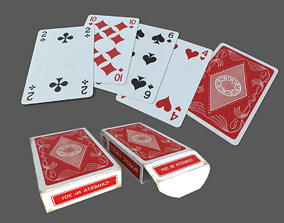 3D Classic Playing Cards game-ready