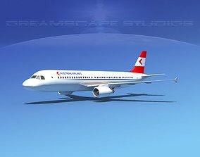 Airbus A320 LP Austrian 3D model rigged