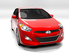 HYUNDAI I30 VARIANT LOWPOLY 3D asset