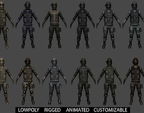 Customizable Soldier 3D model