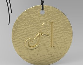 pendants 3D printable model Alphabet Latin A