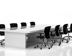 Conference Meeting Room Furniture 01 3D