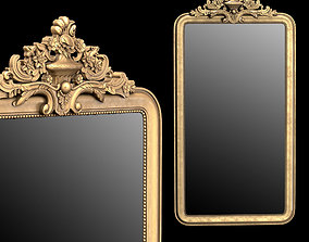 3D model Louis Philippe Gilt Leaner Mirror
