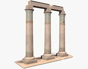 Egyptian Lowpoly Columns 3D model