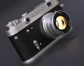 Old vintage camera FED-2 3D model