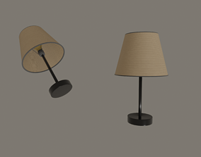 3D asset game-ready Table Lamp
