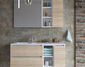 3D model Set of bathroom furniture 2