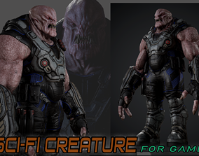 3D asset Sci-fi Creature for game