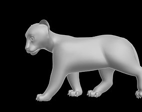 rigged low-poly Tiger Cup Rigged 3D model