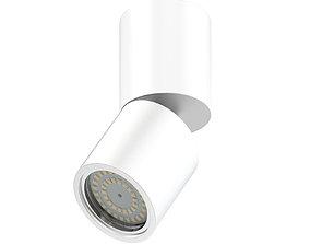 Metal Cylindrical Light 3D Model