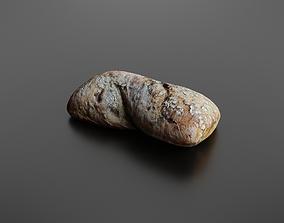 Bread roll 3D model