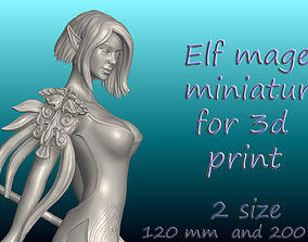 Elf Mage DnD Miniature for 3d print ztl