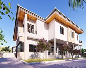 Villa C3 2d dwg lumion render without 3d