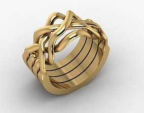 puzzle ring shining 3D printable model