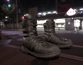 3D model Leather high boots with 2 colors