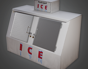 3D asset Commerical Ice Cooler - SAM - PBR Game Ready