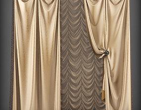 VR / AR ready Curtain 3D model 132