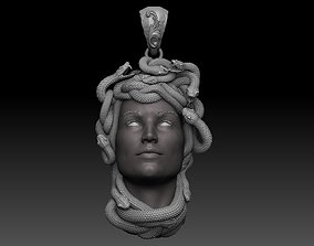 medusa pendant 3D print model printable