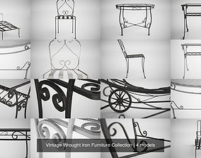 Vintage Wrought Iron Furniture Collection 3D