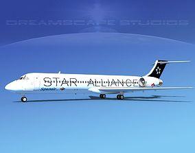 McDonnell Douglas MD-87 Star Alliance 3D model