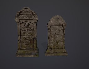 3D asset Gravestones Collection 7 models