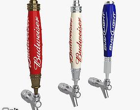Beer Tap Budwiser beer 3D model