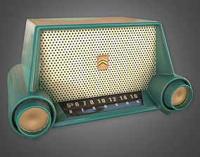 Retro Radio Midcentury Collection PBR Game Ready 3D model