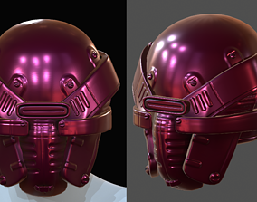 Helmet pollution ball shaped Low-poly 3D model low-poly