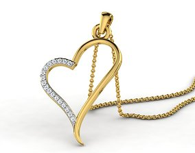 engagem 3D print model Diamond Heart For Ladies