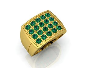 3D print model engagement Mens Ring