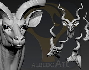 3D print model Greater kudu