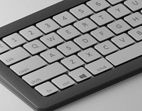 3D asset Low-poly Cool modern keyboard made