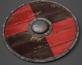 3D model realtime Round Wooden Shield