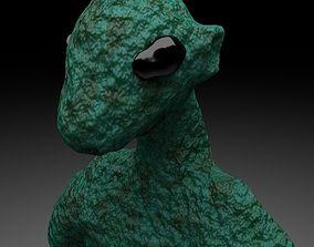 3D model Alien Reptile 1 - Material d