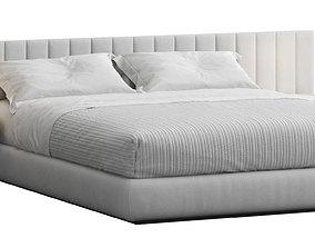 3D Modern Striped Headboard Bed