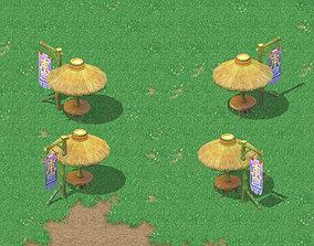 Cartoon world - I love a parasol 3D