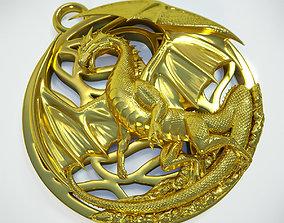 Dragon pendant printable
