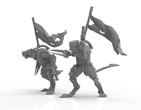 3D printable model Cheese Stealer Cult - Brood Banners