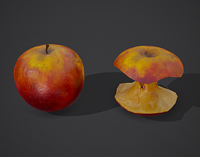 Apple and Apple Core 3D model PBR