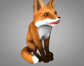 3D asset Fox or Foxes