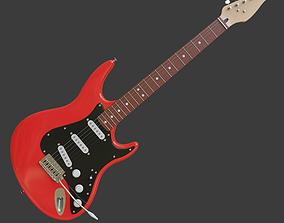 Electric guitar 3D model instrument