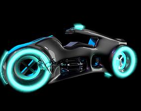 3D model tron inspired bike