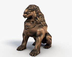 3D asset Chinese guardian lion