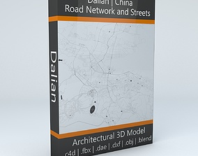 Dalian Road Network and Streets 3D map