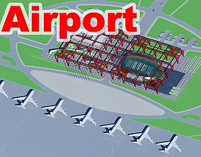 3D model Airport with Modern Building